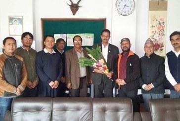 नेपाल वन प्राबिधिक संघ वाट  नवनियुक्त  बन तथा भु सँरक्षण मन्त्री लाई शुभकामना