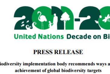 Press Release  _ Convention on Biological Diversity (CBD)