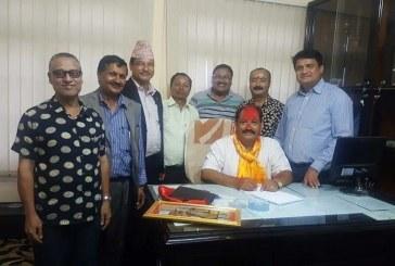 नेपाल वन पैदावार उद्योग ब्यवसायी महासंघको अध्यक्षमा श्री श्याम सुन्दर ढकाल